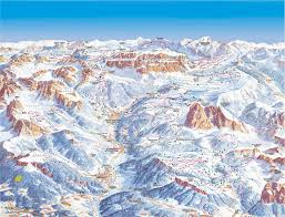 Piste Maps For Italian Ski by Dolomiti Superski Ski Map Italy Europe