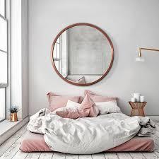 big round mirrors big round mirror large round mirror and pink room