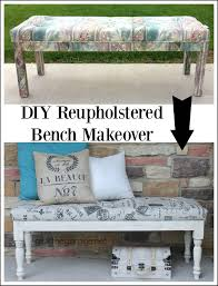 diy tufted reupholstered bench makeover girl in the garage diy tufted reupholstered bench from girl in the garage