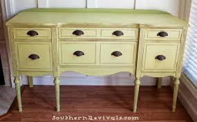 Vintage Sideboard Updating A Vintage Sideboard Buffet With A Pop Of Color Southern