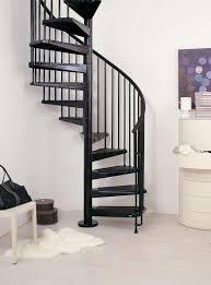 interior modern staircase design with a circular shape made iron