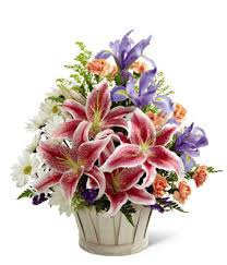 sympathy basket from the heart sympathy basket at from you flowers