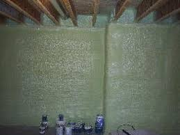 Exterior Basement Wall Insulation by North American Processing Plural Components Spray Foam