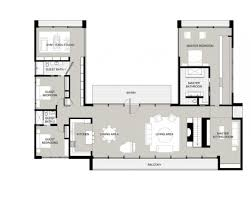 u shaped house plans with courtyard one story