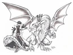 kaiba and blue eyes white dragon by riomak on deviantart