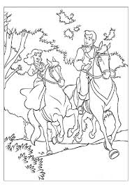 coloring pages a little riding a horse