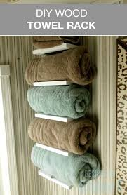 Towel Rack Ideas For Bathroom Colors Best 25 Organize Towels Ideas On Pinterest Bathroom Sink