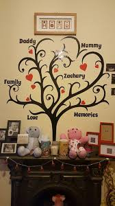 family tree with hearts names additional names can be added