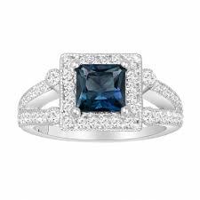 london blue topaz engagement ring princess cut london blue topaz engagement ring 1 74 carat