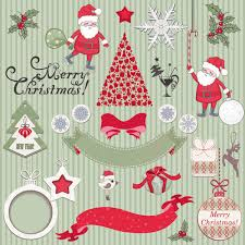 cute cartoon christmas ornaments vector graphics 04 vector