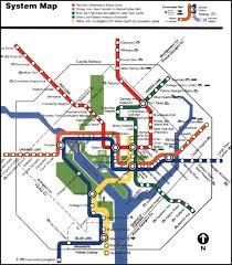 washington subway map metro system map