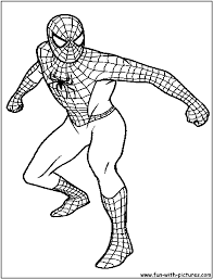cartoon images spiderman colouring pages free printable