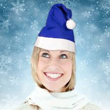 blue santa hat blue felt santa hat blue shop by color