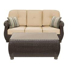 Outdoor Sofa Sets by Outdoor Sofas Outdoor Lounge Furniture The Home Depot
