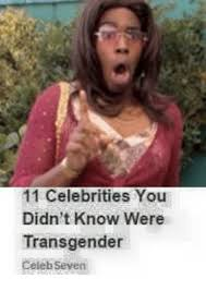 Celeb Meme - 11 celebrities you didn t know were transgender celeb seven