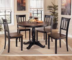 dining room round kitchen table with leaf 6 chair dining set