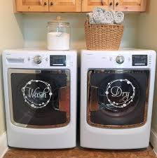 Decorating Laundry Room by Two Styles Available Washer Dryer Set Labels Vinyl Decal