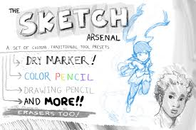 the sketch arsenal by thatld on deviantart