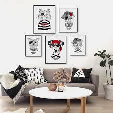vintage retro home decor vintage retro pirate anmial cat dog pet a4 art prints poster