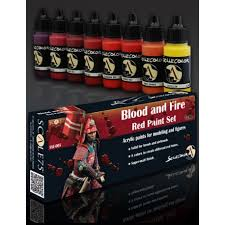 blood red paint blood and fire red paint set scale75 between history and legend