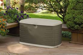 Outdoor Storage Box Bench Rubbermaid Outdoor Storage Bench With Seat