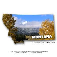 State Shaped Gifts Ornaments And Magnets U2013 Montana Shaped Gifts A Krogstad Creative