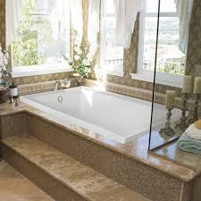 Jetted Tub Bed U0026 Bath Mosaic Tile Tub Surround And Whirlpool Tub With Pillar