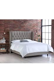 Velvet Tufted Headboard Queen by Bedrooms Upholstered Queen Beds Wingback Bed Skyline Velvet