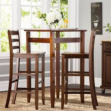 Bar Stool And Table Sets Charlton Home Halo 3 Piece Pub Table Set U0026 Reviews Wayfair