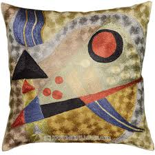 Accent Pillows For Brown Sofa by Kandinsky Modern Throw Pillows Composition Green Cushion Cover