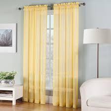 solid sheer window curtain