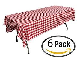 round picnic table covers for winter amazon com pack of 6 plastic red and white checkered tablecloths
