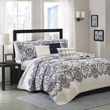 Quilted Bedspread King Amazon Com Madison Park Cali 6 Piece Quilted Coverlet Set