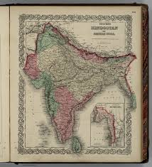 British India Map by Hindoostan Or British India David Rumsey Historical Map Collection