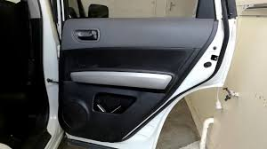how to open rear door panel of nissan xtrail youtube