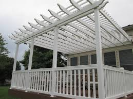 Decks With Attached Gazebos by Fully Covered Pergola Nyfarms Info