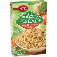 betty crocker suddenly salad ranch u0026 bacon pasta salad 7 5 oz box
