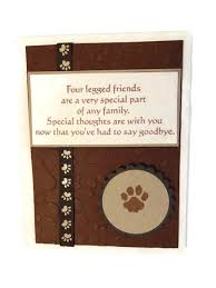 sympathy cards for pets pet sympathy card loss of pet card by lilaccottagecards on etsy