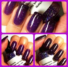 Purple Mood Color Changing Nail Polish Purple To Black