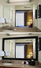 diy bathroom mirror frame ideas large floor framed mirror can a focal point in small living