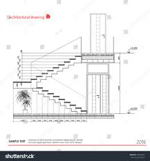 architectural drawings stairs stock vector 352426256 shutterstock