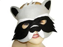 Raccoon Halloween Costumes Children U0027s Woodland Animal Raccoon Felt Mask Magical Attic