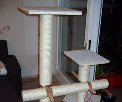 Homemade Cat Hammock by Diy Cat Tree With Hammock 6 Steps