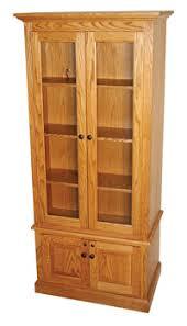 Glass Gun Cabinet Amish Peddler Custom Handcrafted Amish Furniture