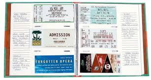 ticket stub album buy ticket stub diary at mighty ape australia