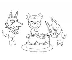 animal crossing coloring pages with regard to your property cool