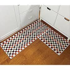Kitchen Rug Mat Amazon Com Carvapet 2 Piece Kitchen Mat No Rubber Backing Doormat