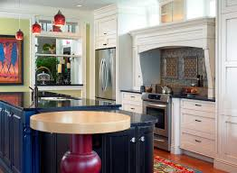 round kitchen island wood table attached to island small round