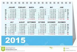 desk calendar 2015 template stock vector image 43290981