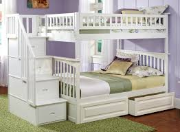 Full Over Full Futon Bunk Bed by Columbia Staircase Bunk Bed Full Over Full With Raised Panel Dra